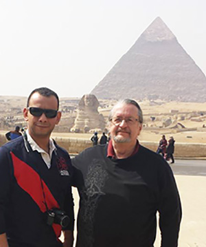 With Moheb at The Pyramids